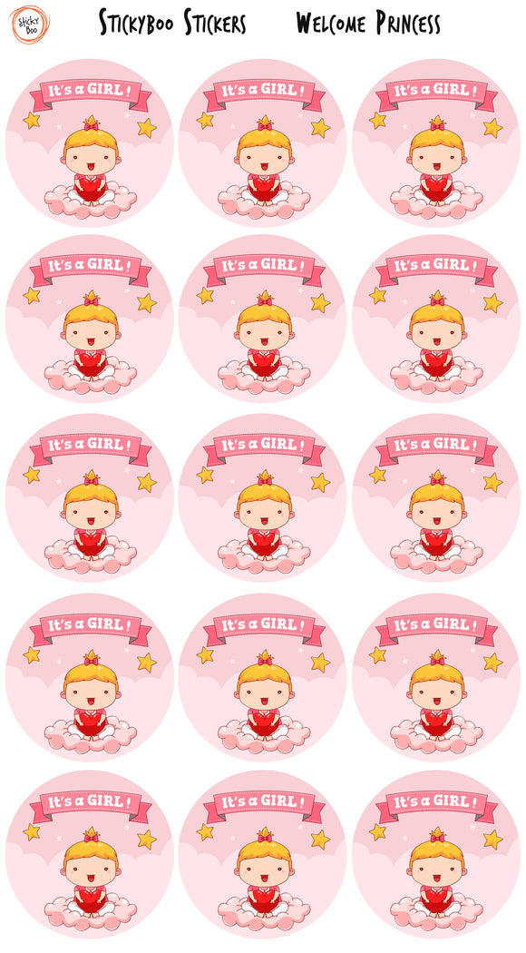 Fun Stickers - Welcome Princess