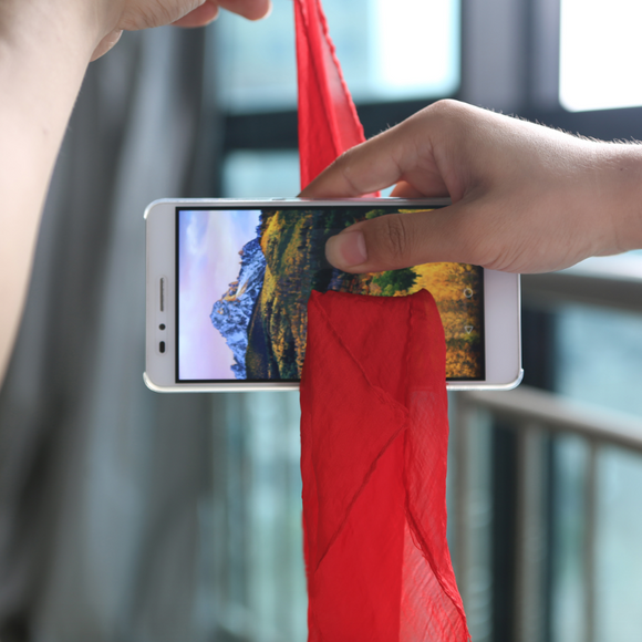 Scarf Through PHONE SCREEN!