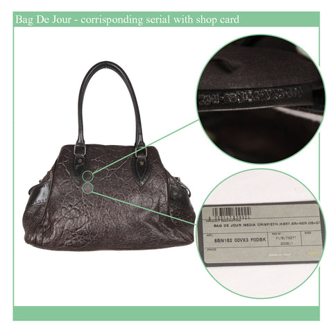 Fendi Bag De Jour, 2008- corrisponding serial with shop card - ophertyciocci