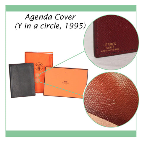 HERMES BLACK LEATHER AGENDA COVER DAY PLANNER ORGANIZER