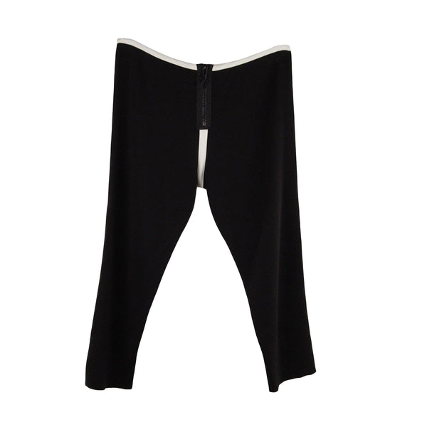 Marni Black and White Cotton Blend Cropped Leggings Pants 44