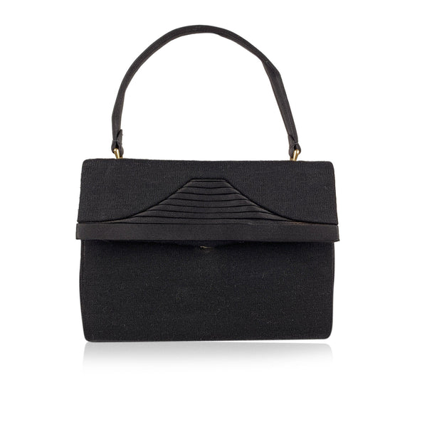 Gucci Vintage Black Fabric Evening Bag