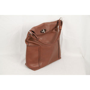 PLINIO VISONA Tan Leather TOTE Bag
