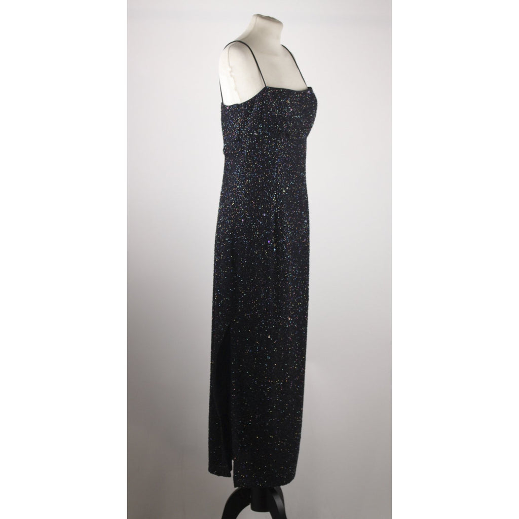 Morgan & Co. By Linda Bernell Embellished Evening Maxi Dress
