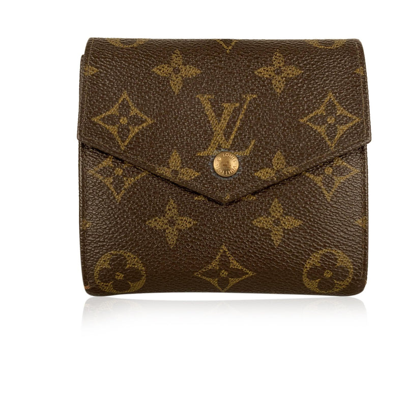 Louis Vuitton Louis Vuitton Monogram Brown Unisex Bifold Coin and Cards Wallet