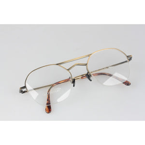 Gold Metal Half Rim Eyeglasses 541