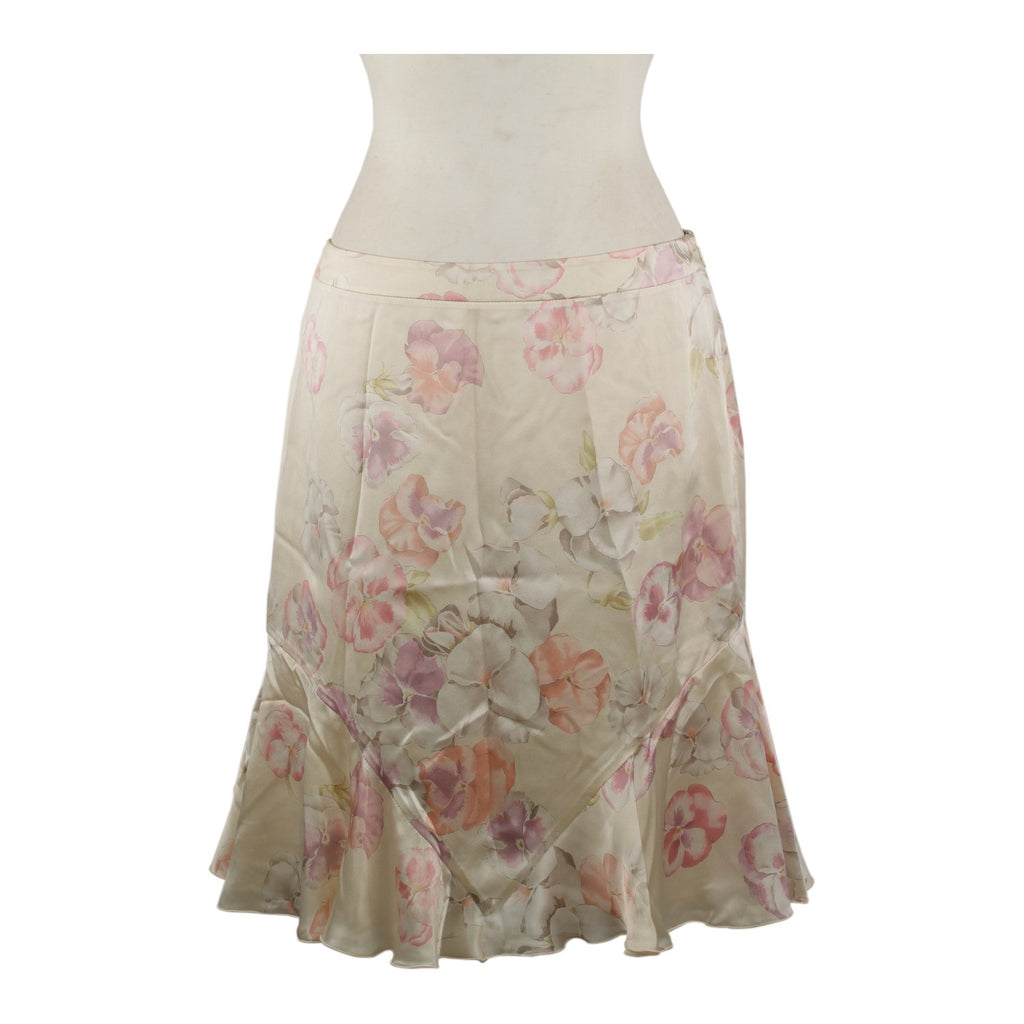 Valentino Floral Silky Skirt Size 8