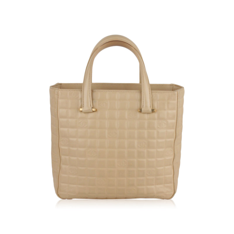 Square CC Embossed Tote Bag