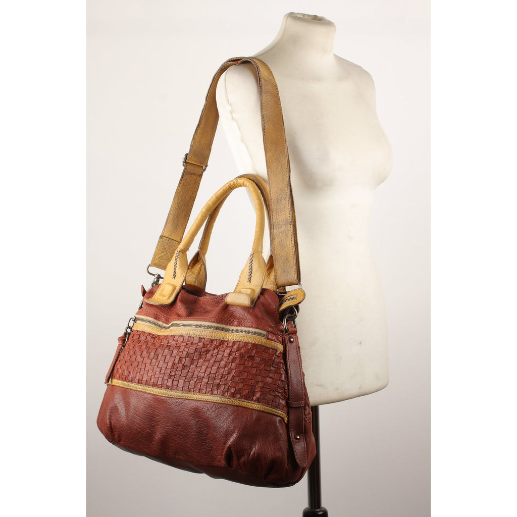 Tyoulip Sisters  Woven Leather Tote