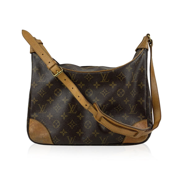 Louis Vuitton Brown Monogram Canvas Boulogne Shoulder Bag Tote