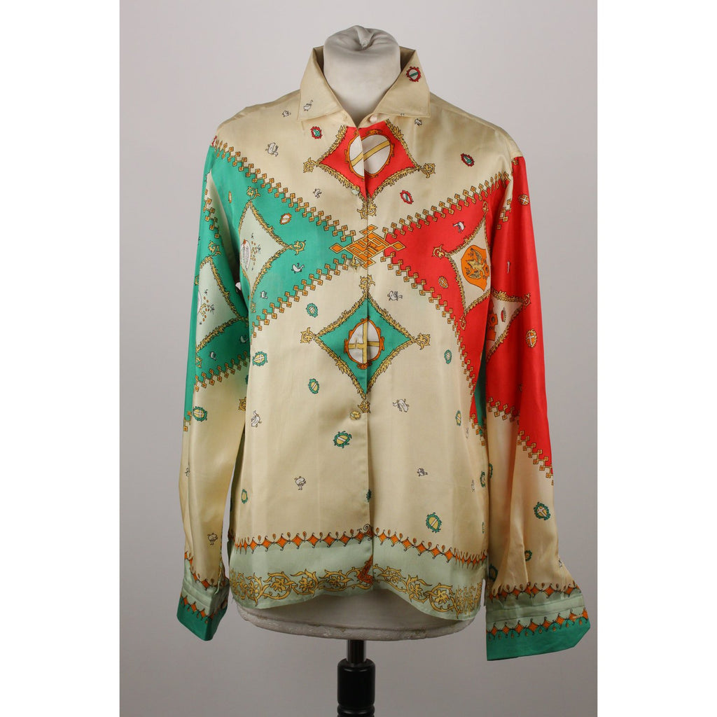 Emilio Pucci Rare Vintage Palio Collection Oca Shirt Size 14