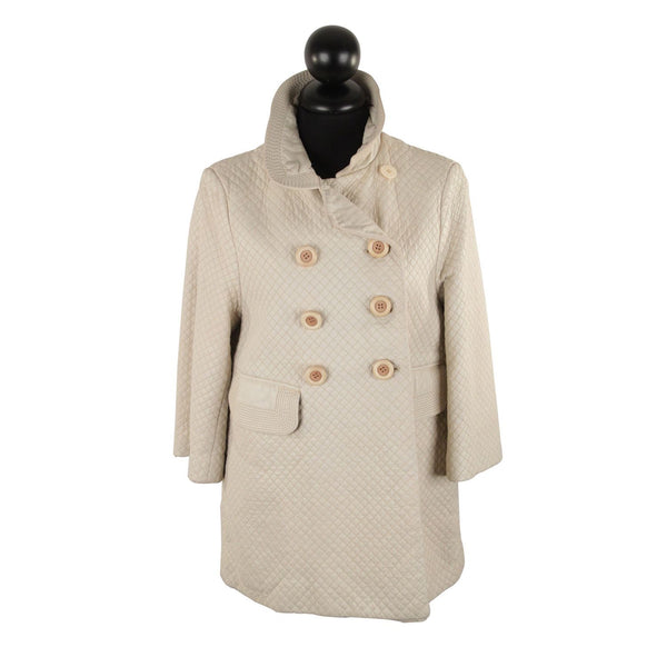 Chloe Ivory Quilted Leather Double Breasted Coat Jacket Size 40 IT - OPHERTY & CIOCCI