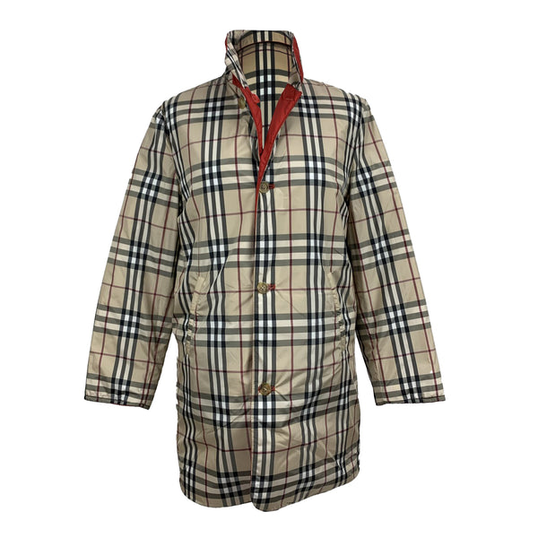 Burberry Beige Nova Check Padded Reversible Jacket Size S
