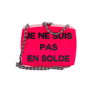 Chanel Je Ne Suis Pas En Solde Box Clutch Crossbody Bag