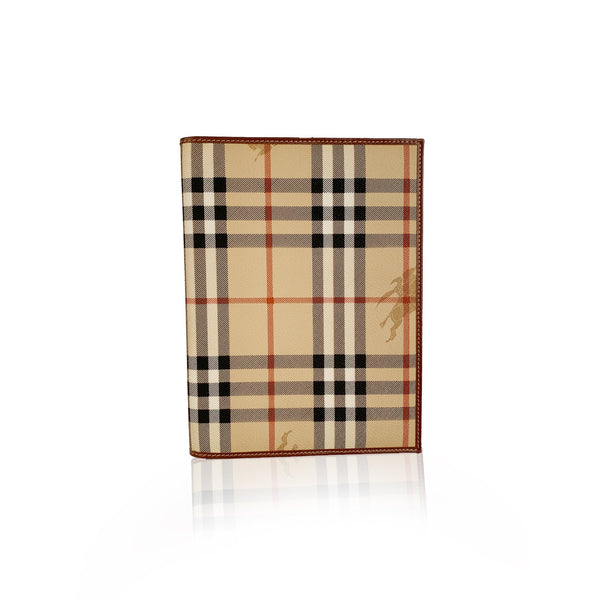 Burberry Beige Nova Check Address Book Notepad Agenda Cover