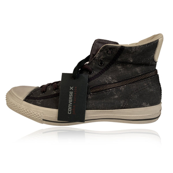 Converse X John Varvatos Black Turtle CT Zip Hi Sneakers Size 42,5