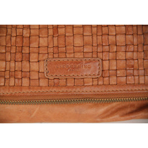 LIEBESKIND BERLIN Tan Woven Leather CROSSBODY BAG Messenger