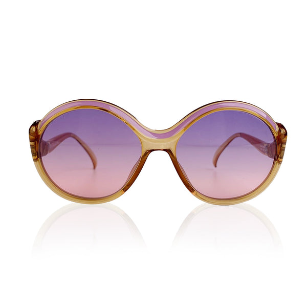 Christian Dior Vintage Pink Round Optyl Sunglasses Mod 2078 56/17