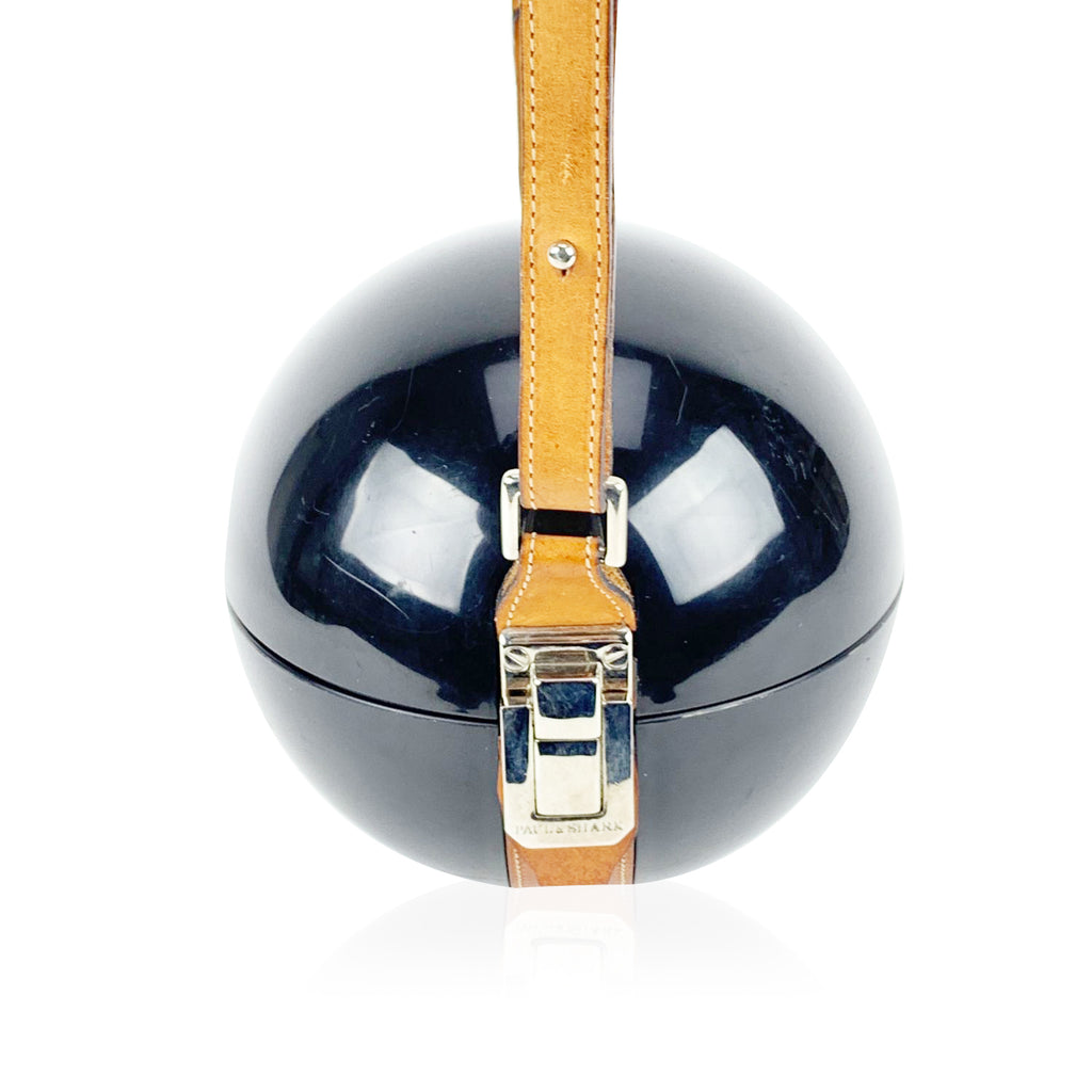 Paul & Shark Yachting Black Plastic Sphere Ball Crossbody Bag