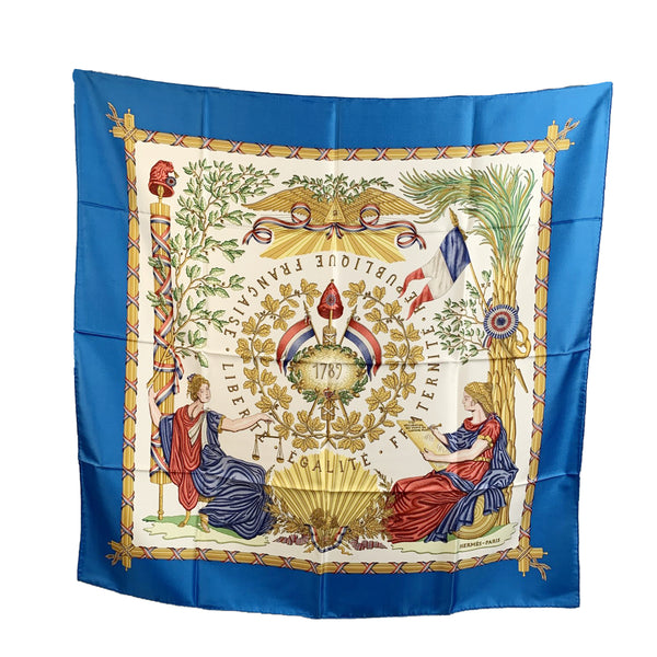 Hermes Vintage Silk 1789 Commemorative Scarf by Metz