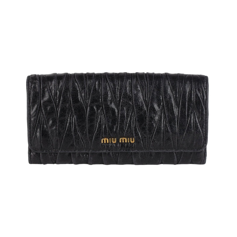 Matelassé Flap Wallet Purse