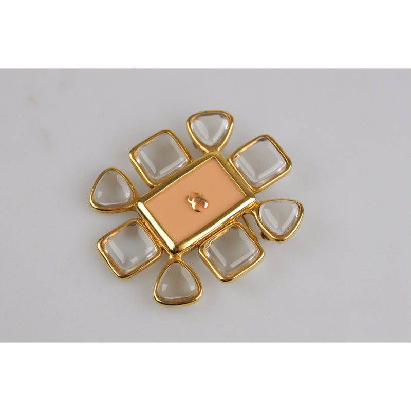 Vintage 1996 Gold Metal Brooch