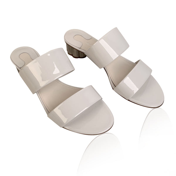 Salvatore Ferragamo White Belluno Slide Sandals Size US 7.5C EU 38