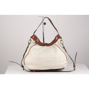 Bicolor Canvas Hobo Tote