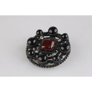 Vintage 1984 Black Metal Brooch