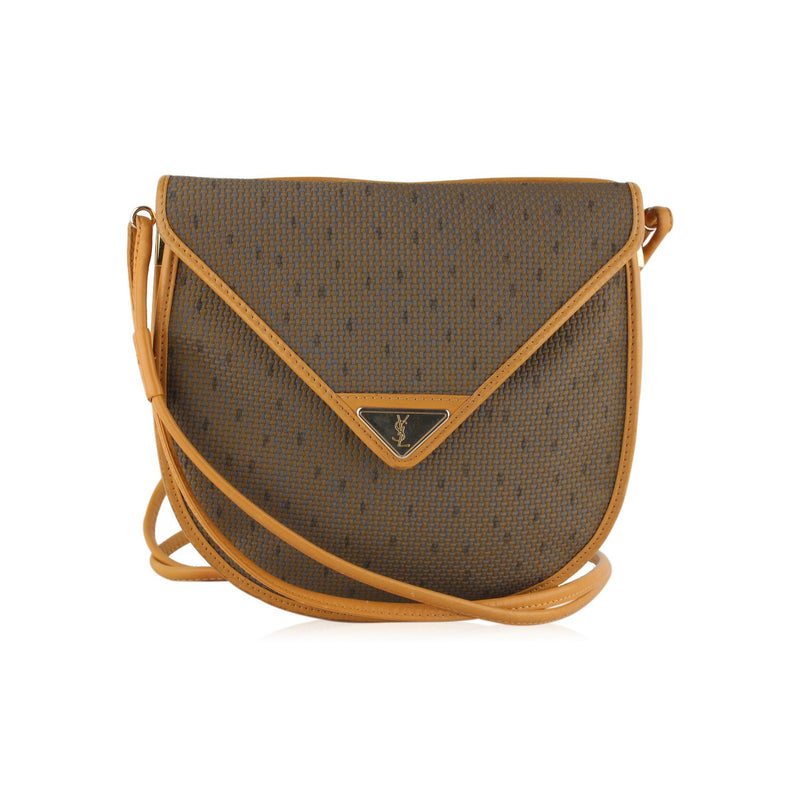 Vintage Textured Crossbody Bag