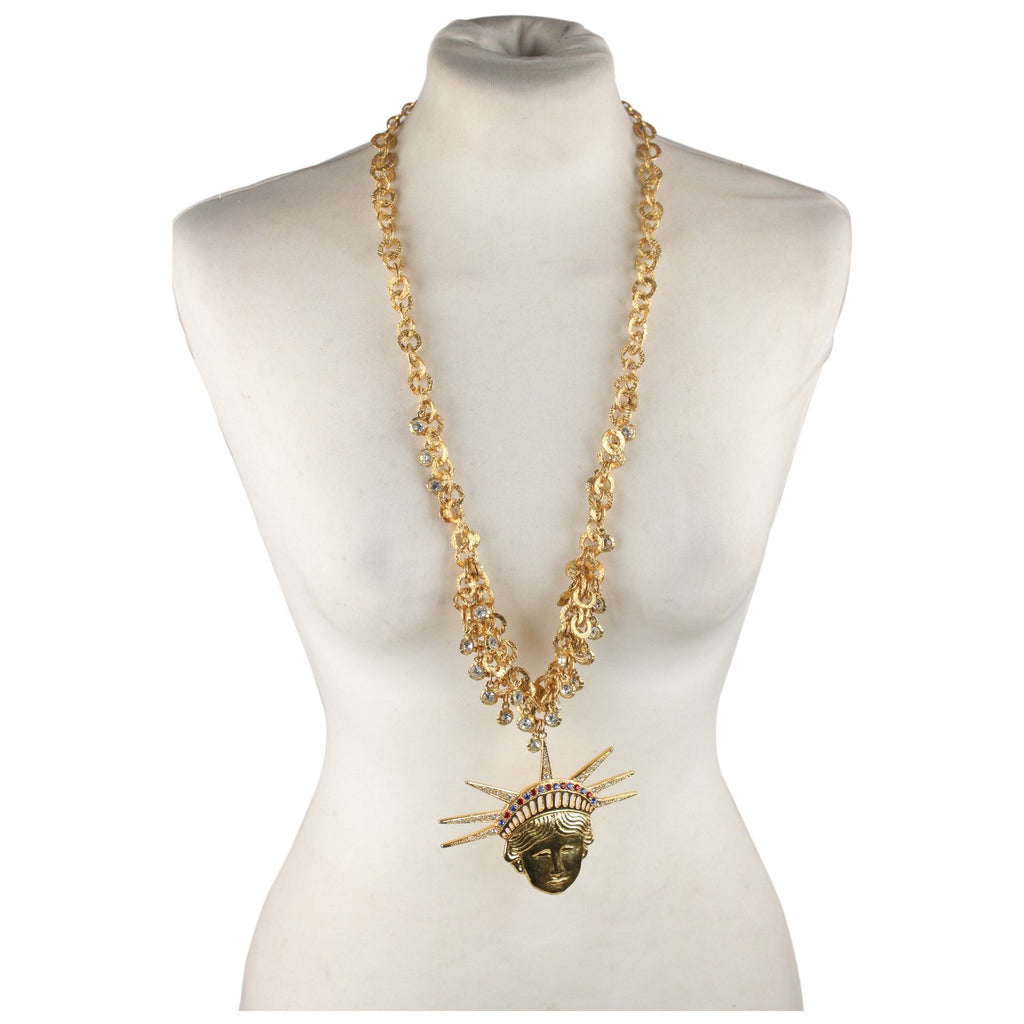 Vintage Haute Couture  Statue Of Liberty Necklace