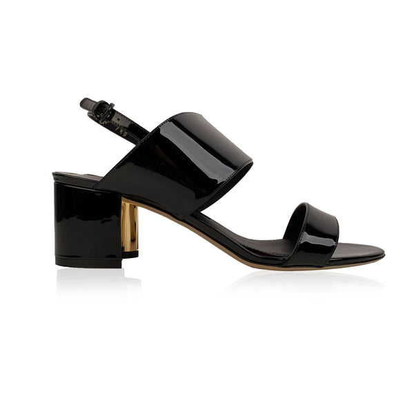 Salvatore Ferragamo Black Mesola 1 Heeled Sandals US 7.5D EU 38