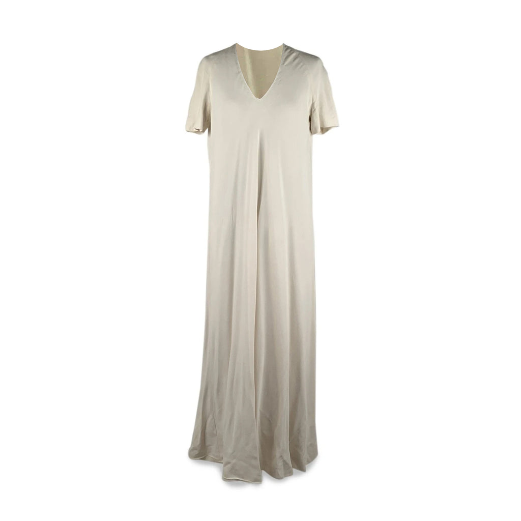 La Mendola Vintage White Long Kaftan Evening Dress Size 46