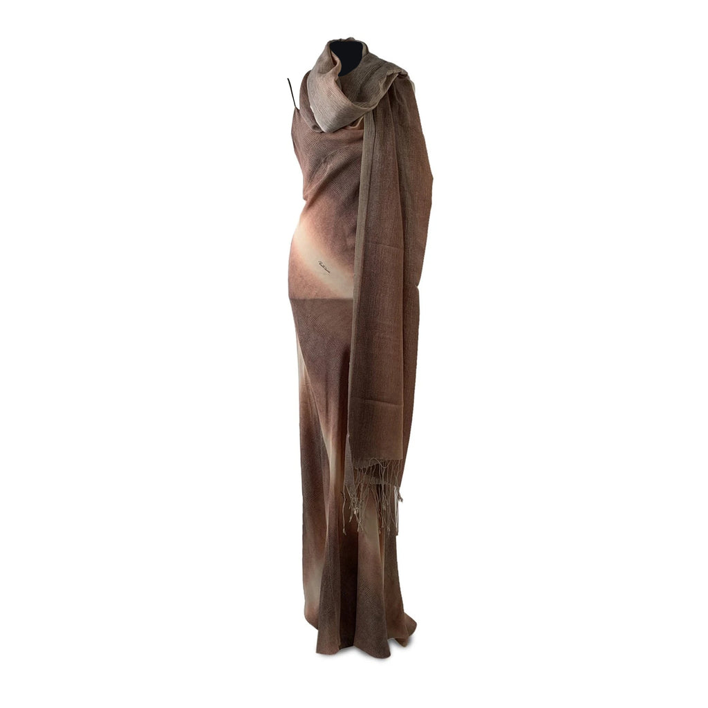 Roberto Cavalli Pink Silk Evening Dress Gown with Stole Size XS