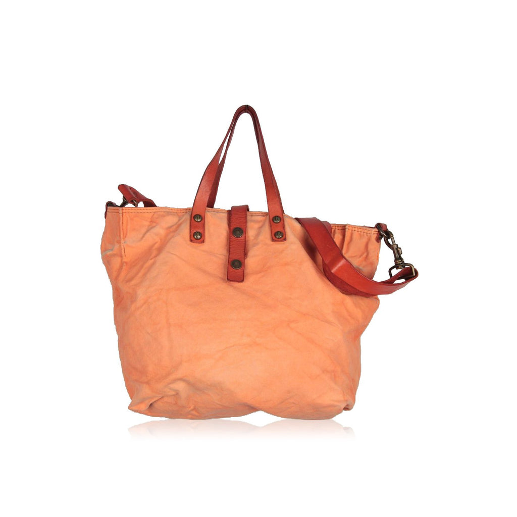 Orange Canvas Tote Shoping Bag - OPHERTY & CIOCCI