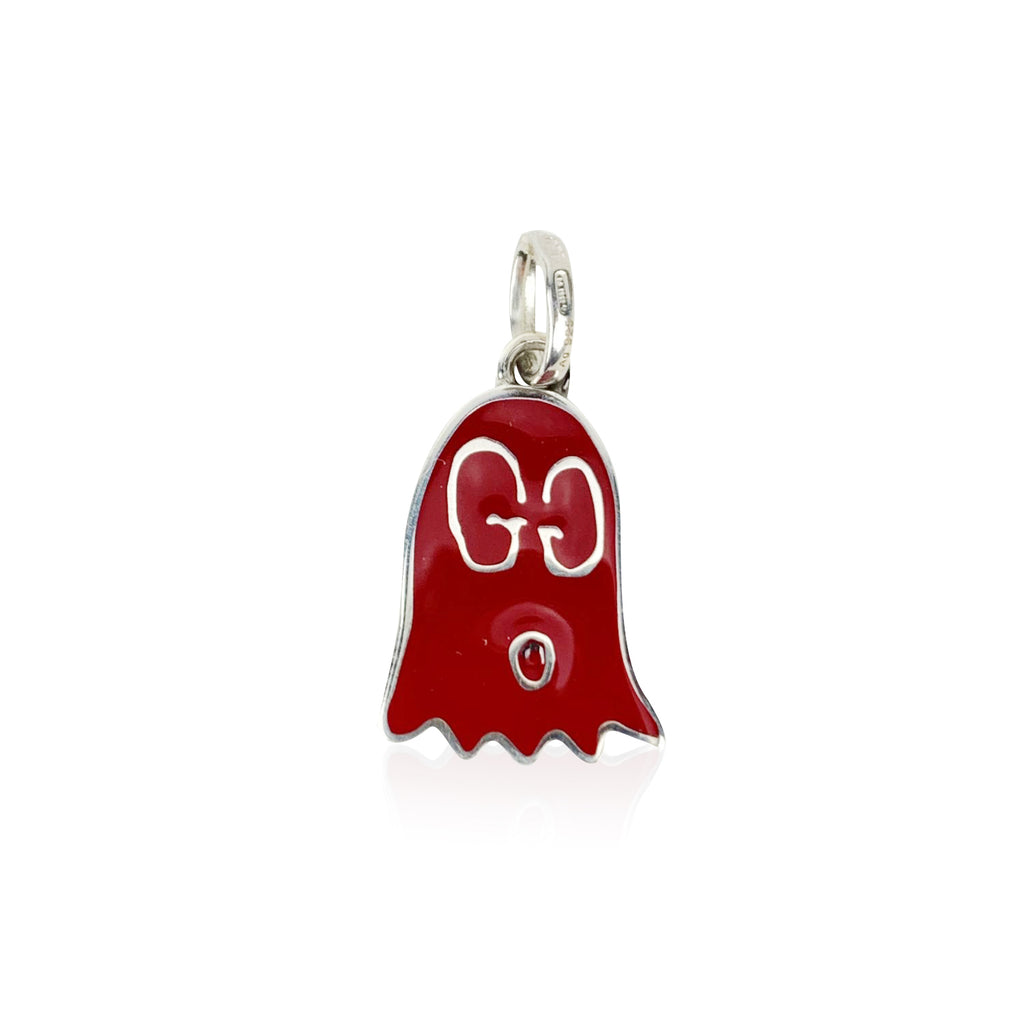 Gucci Sterling Silver Red Ghost Real Gucci Pendant Never Worn