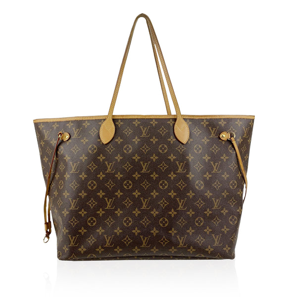 Louis Vuitton Monogram Canvas Neverfull GM Tote Shopping Bag