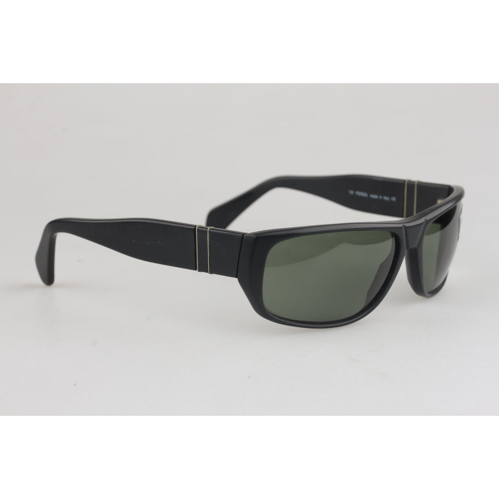 Vintage Matte Black Meflecto Sunglasses EF013 56mm