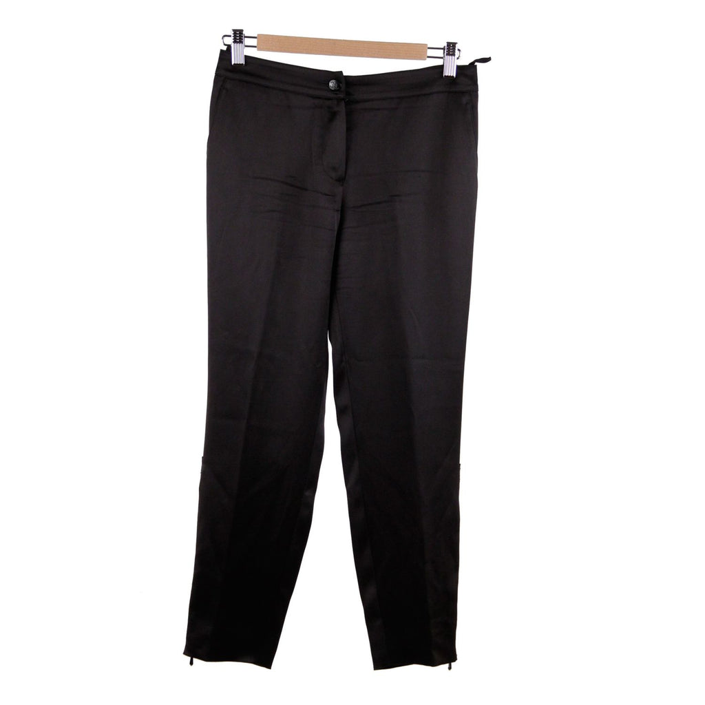 Chanel Trousers with Zip Detail Size 36