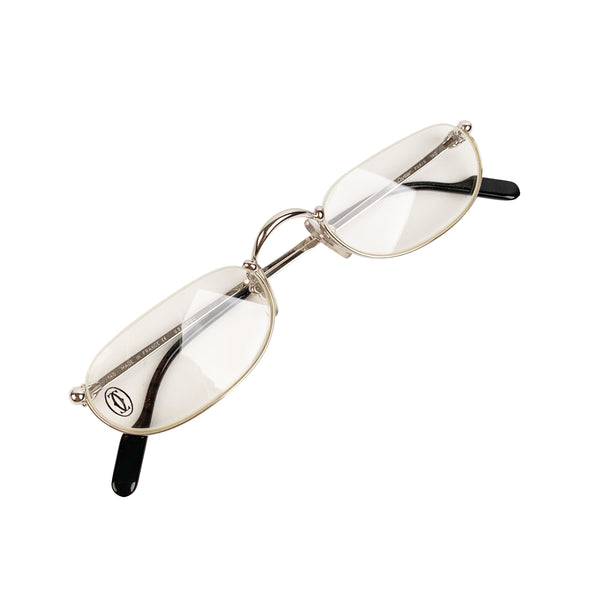Cartier Paris Mint Silver Platine Eyeglasses T8100348 51-23 140mm