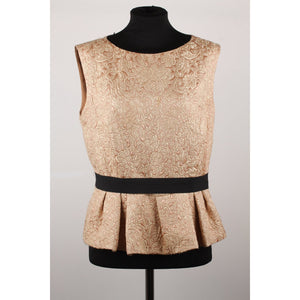 Christian Dior Top with Peplum Hem Size 46
