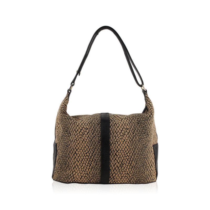 Lancel Animal Print Shoulder Bag