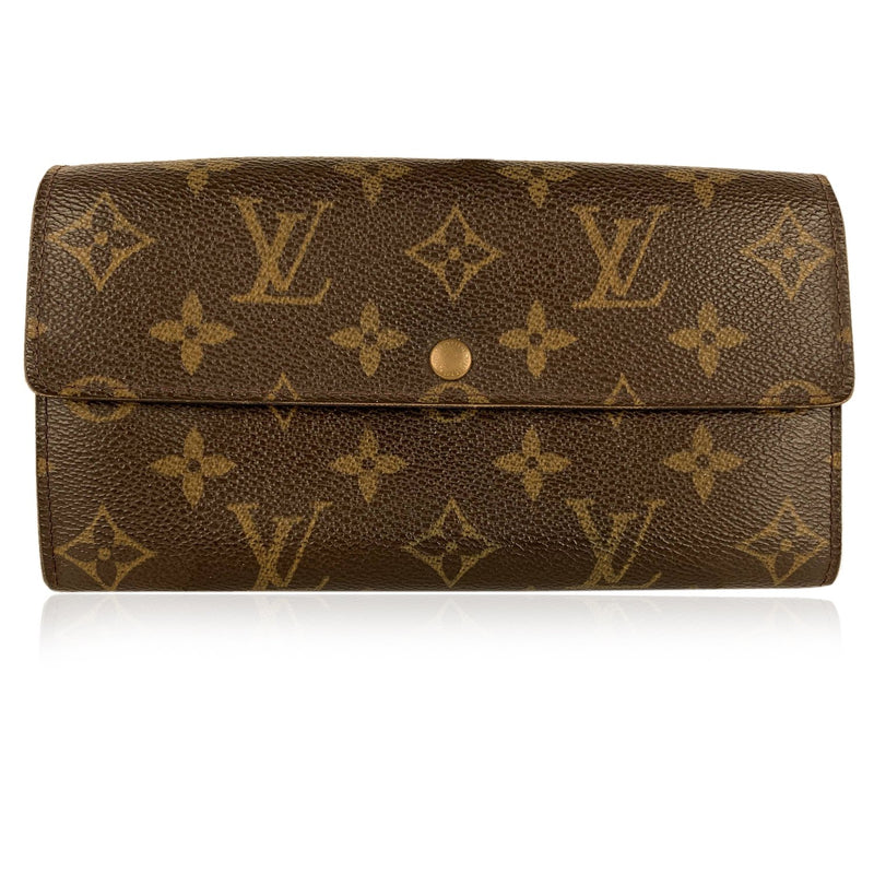 Louis Vuitton Monogram Brown Bifold Long Sarah Clutch Wallet