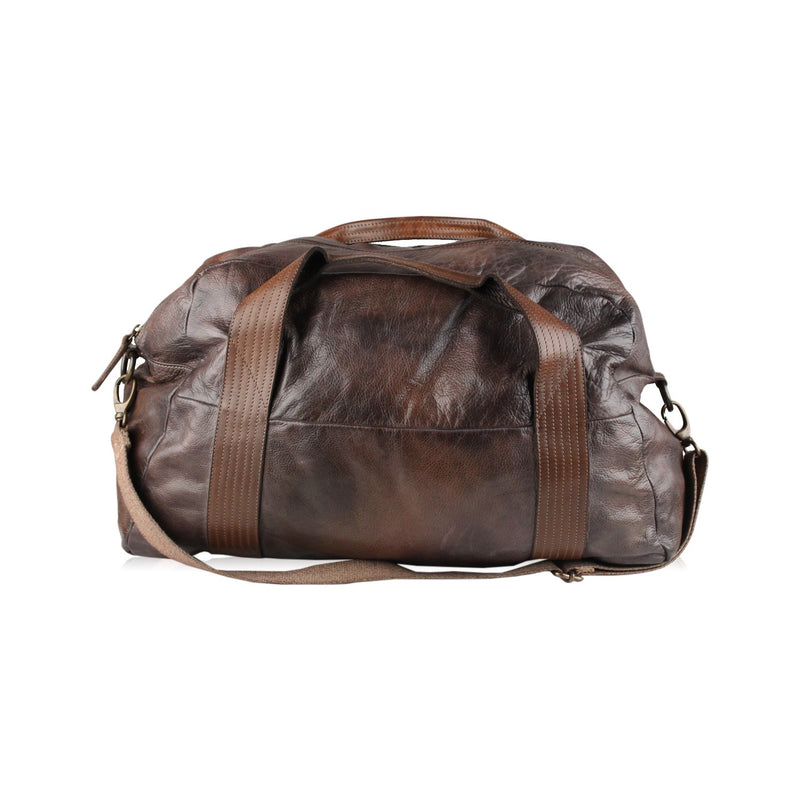Vintage Look Leather Duffle Bag