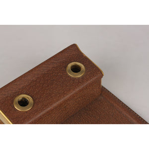 Gucci Vintage Desk Notepad Holder with Pen Slots