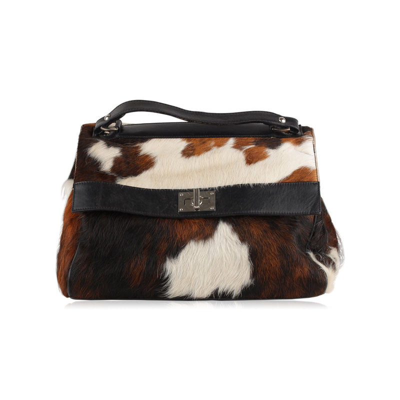 Unbranded Pony Hair Top Handle Bag