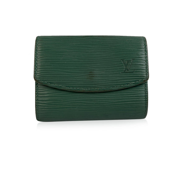 Louis Vuitton Vintage Green Epi Leather Coin Change Purse Wallet