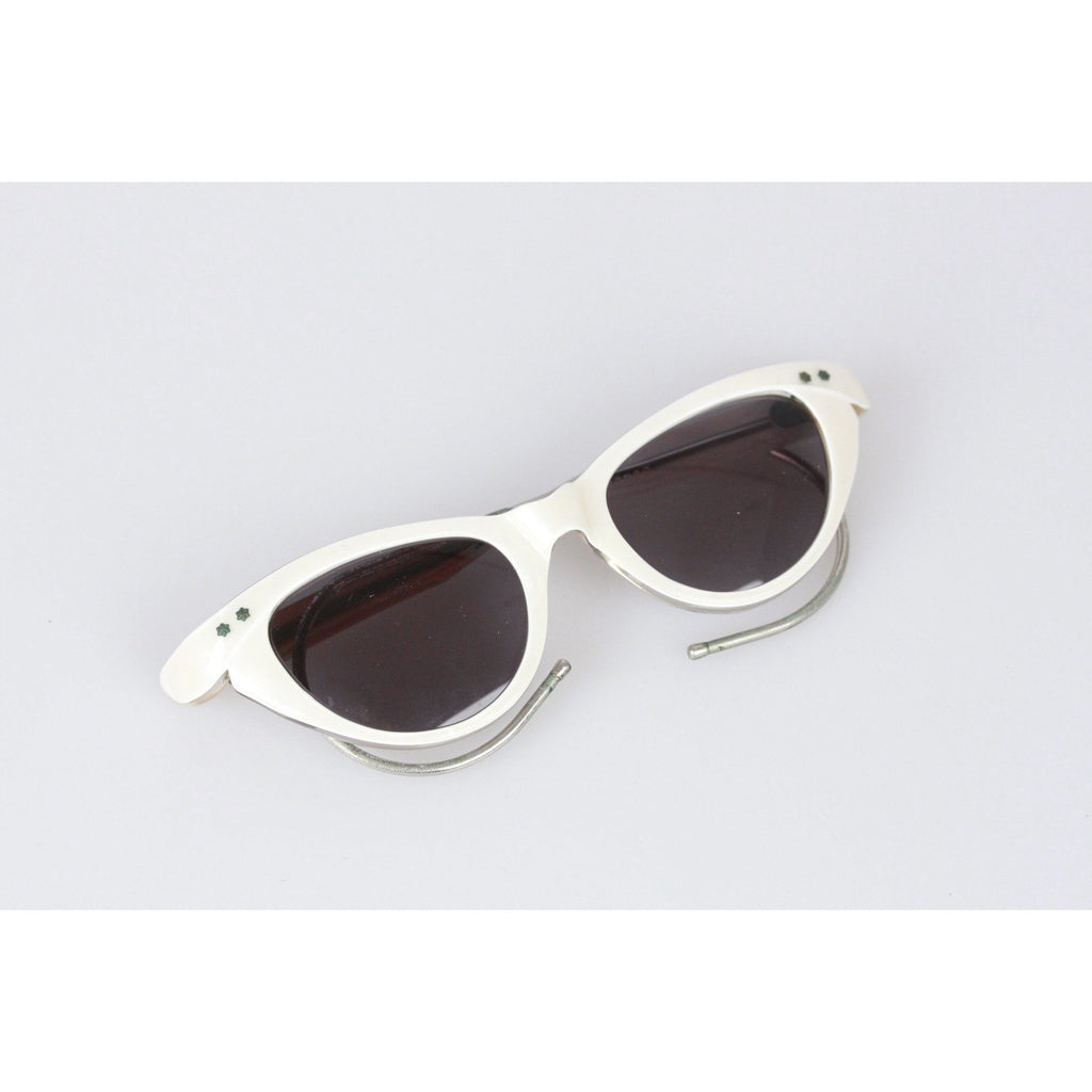 1950s Original Cat-Eye White Extra Small Sunglasses
