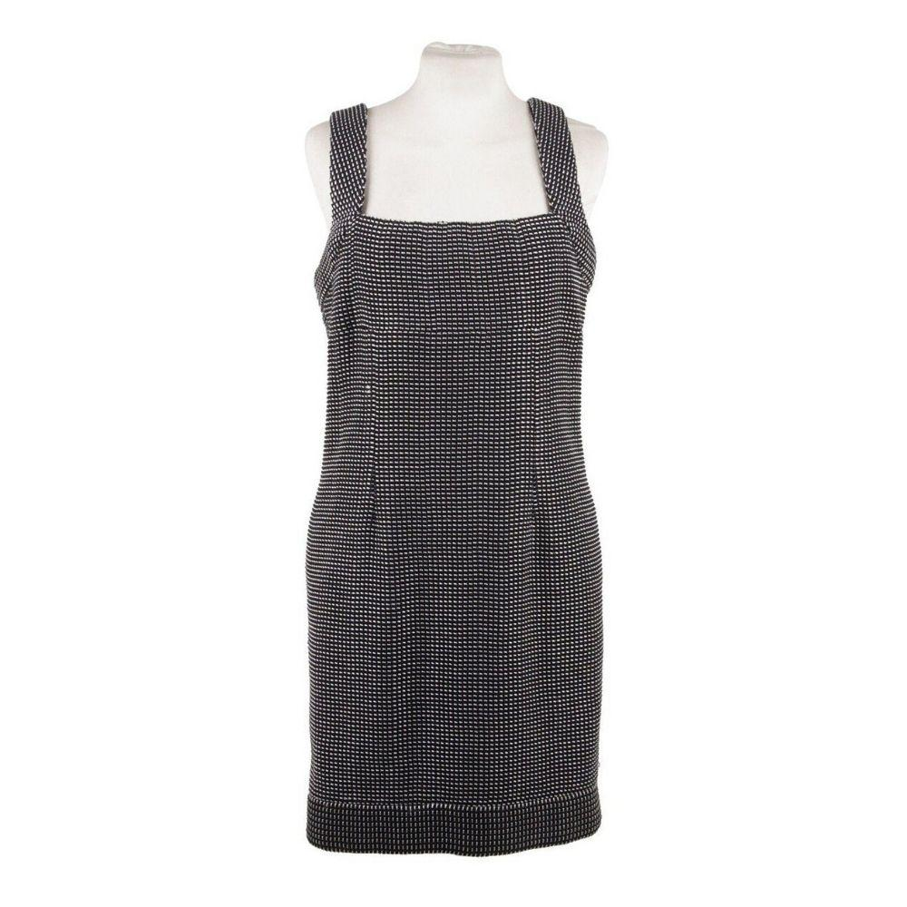 Chanel Black & White Cotton Blend Sheath Sleeveless Dress Size 38 - OPHERTY & CIOCCI