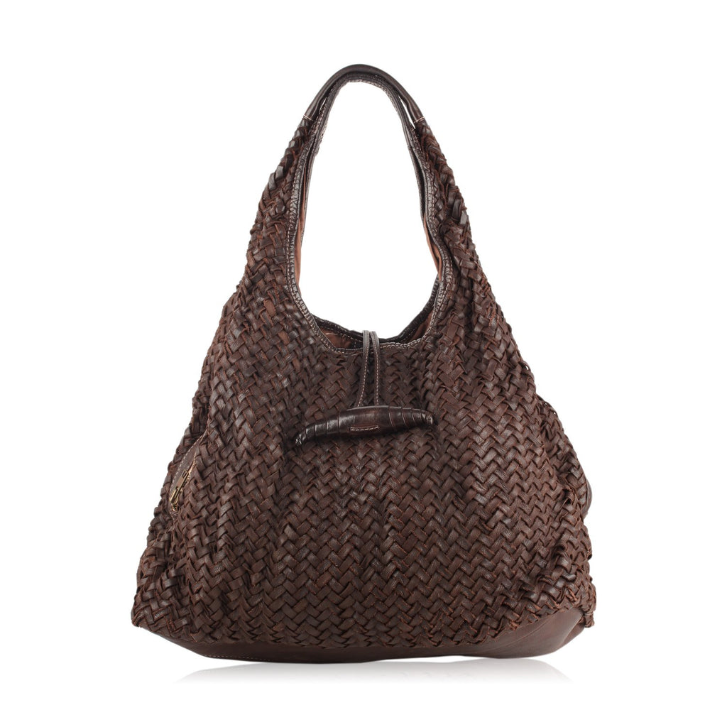 Gianfranco Sisti Woven Hobo Bag